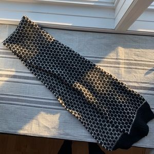 Black & White Patterned Lambswool J. Crew Scarf